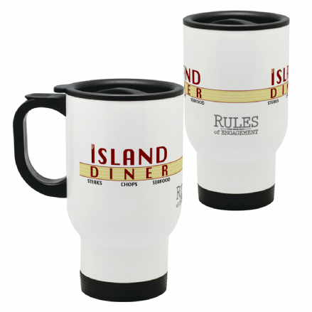 Island Diner Thermal Stainless Steel Travel Mug Based on Rules of Engagement